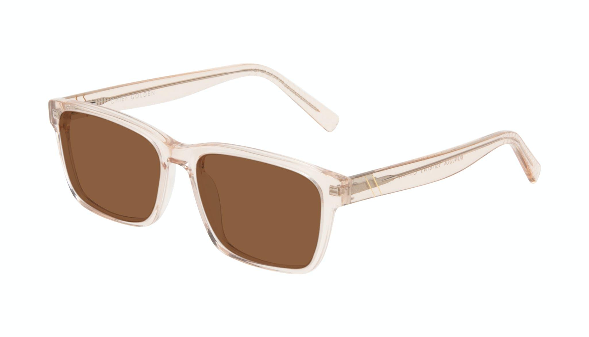 Affordable Fashion Glasses Square Sunglasses Men Chief Golden Tilt