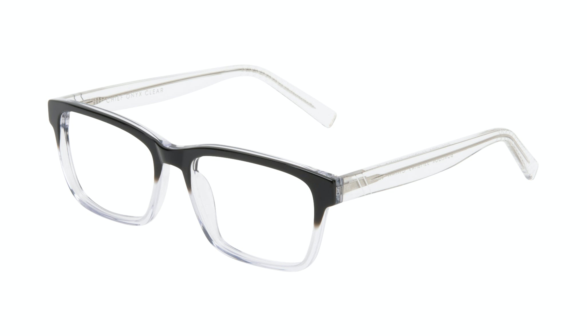 Affordable Fashion Glasses Square Eyeglasses Men Chief Onyx Clear Tilt