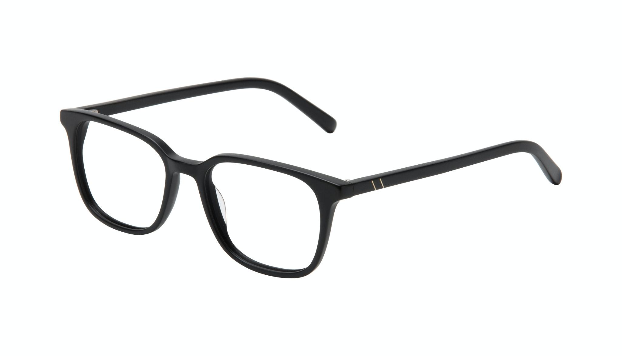 Affordable Fashion Glasses Square Eyeglasses Men Choice Black Matte Tilt
