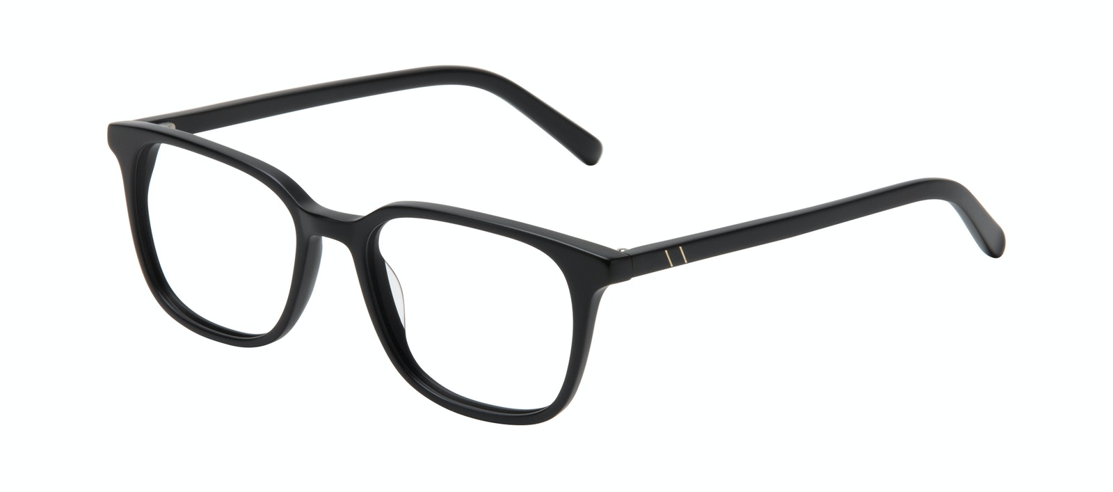 Affordable Fashion Glasses Square Eyeglasses Men Choice Black Matte Tilt
