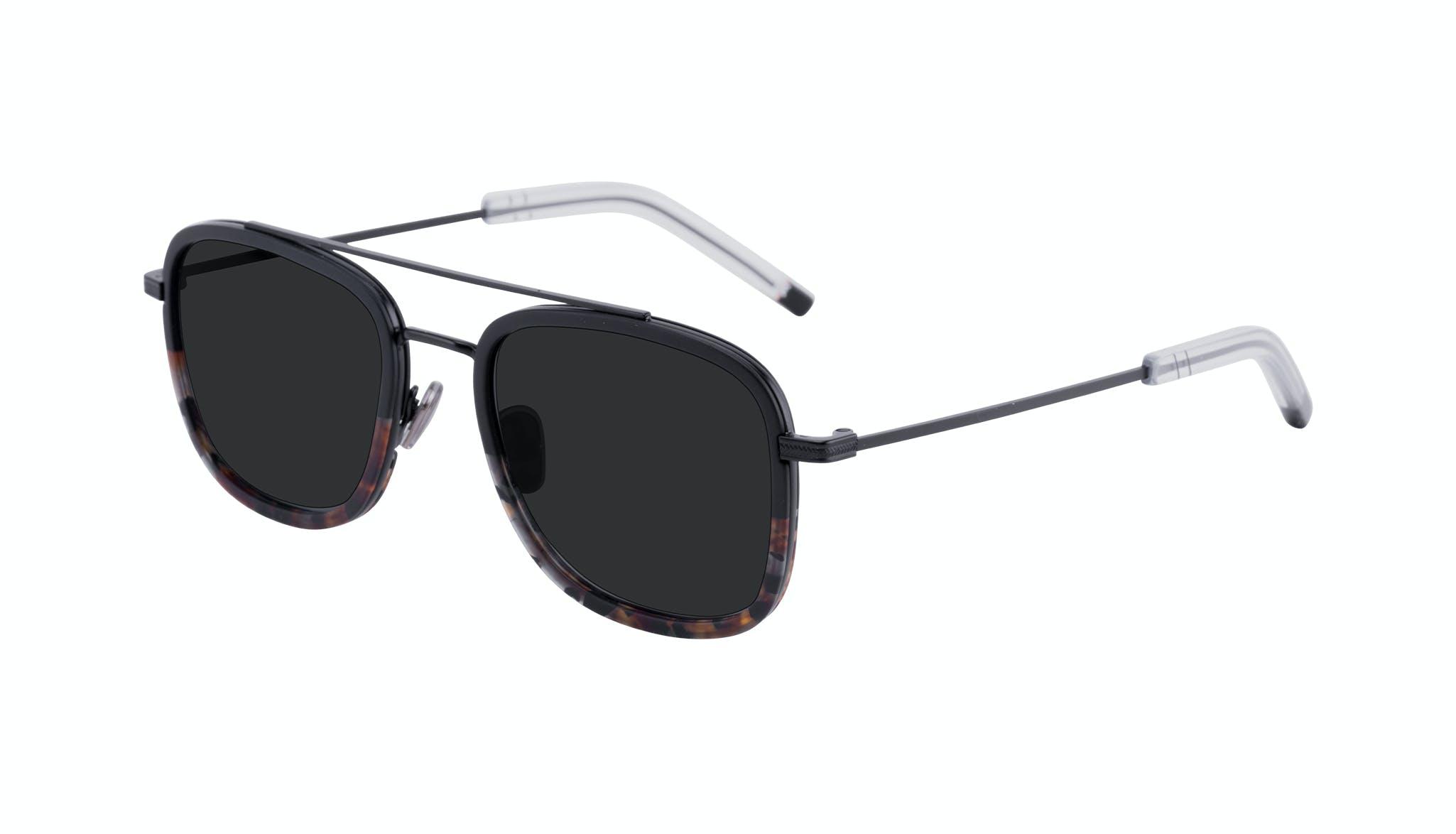 Affordable Fashion Glasses Aviator Rectangle Sunglasses Men Class Mahogany Tilt