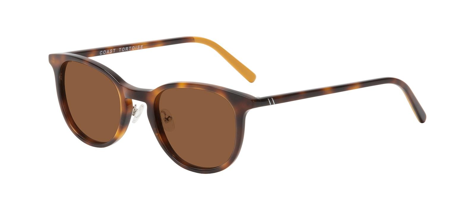 Affordable Fashion Glasses Round Sunglasses Men Coast Tortoise Tilt