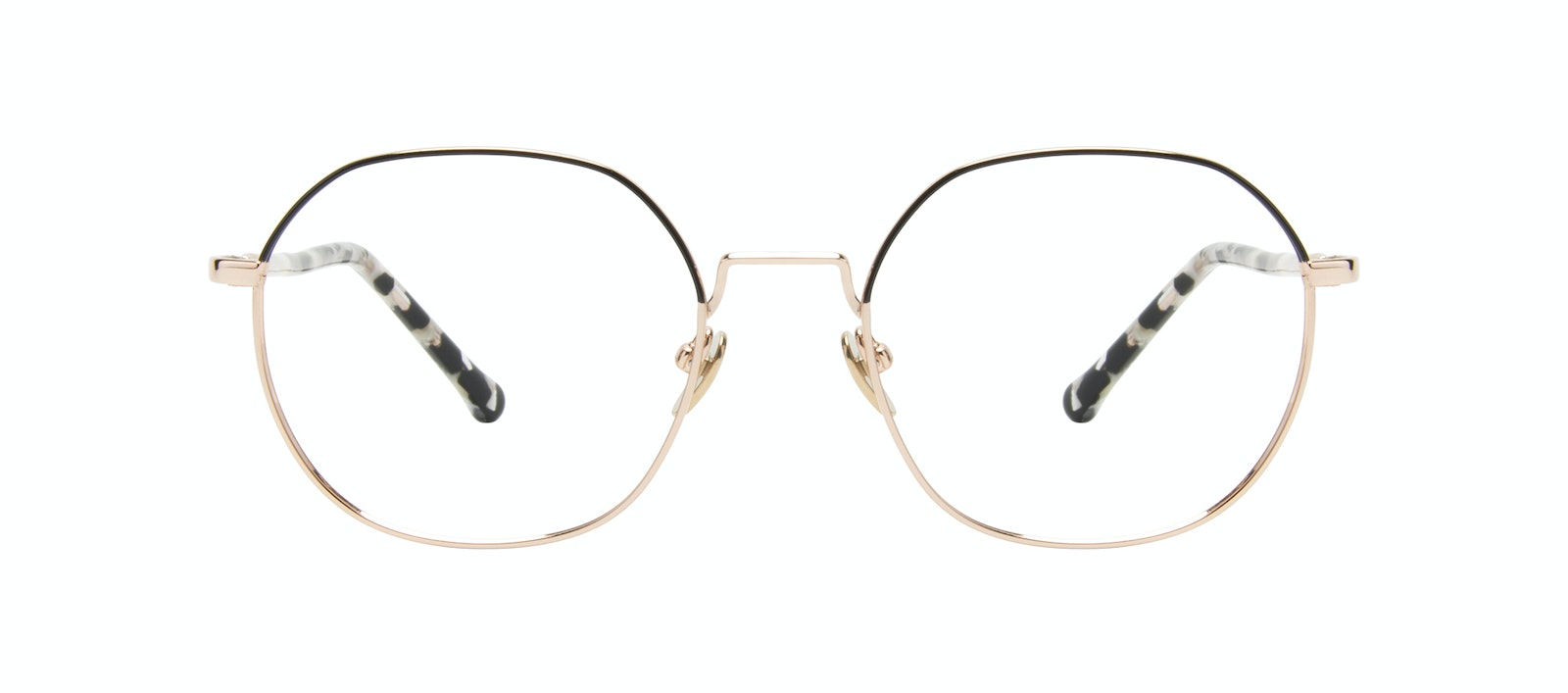 Affordable Fashion Glasses Round Eyeglasses Women Coco Deep Gold Front