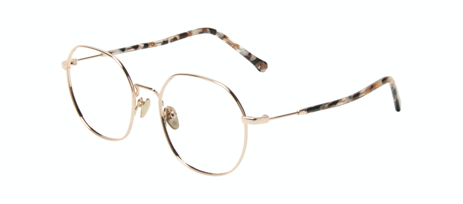Affordable Fashion Glasses Round Eyeglasses Women Coco Gold Tilt