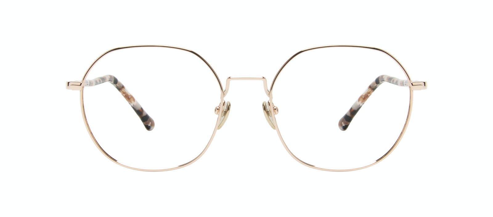 Affordable Fashion Glasses Round Eyeglasses Women Coco Gold Front
