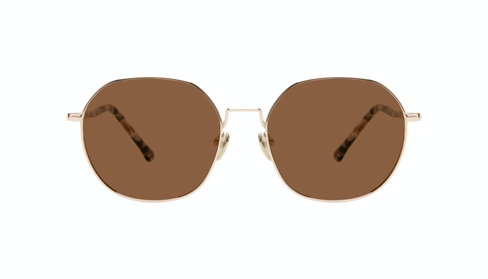 Affordable Fashion Glasses Round Sunglasses Women Coco Gold Front