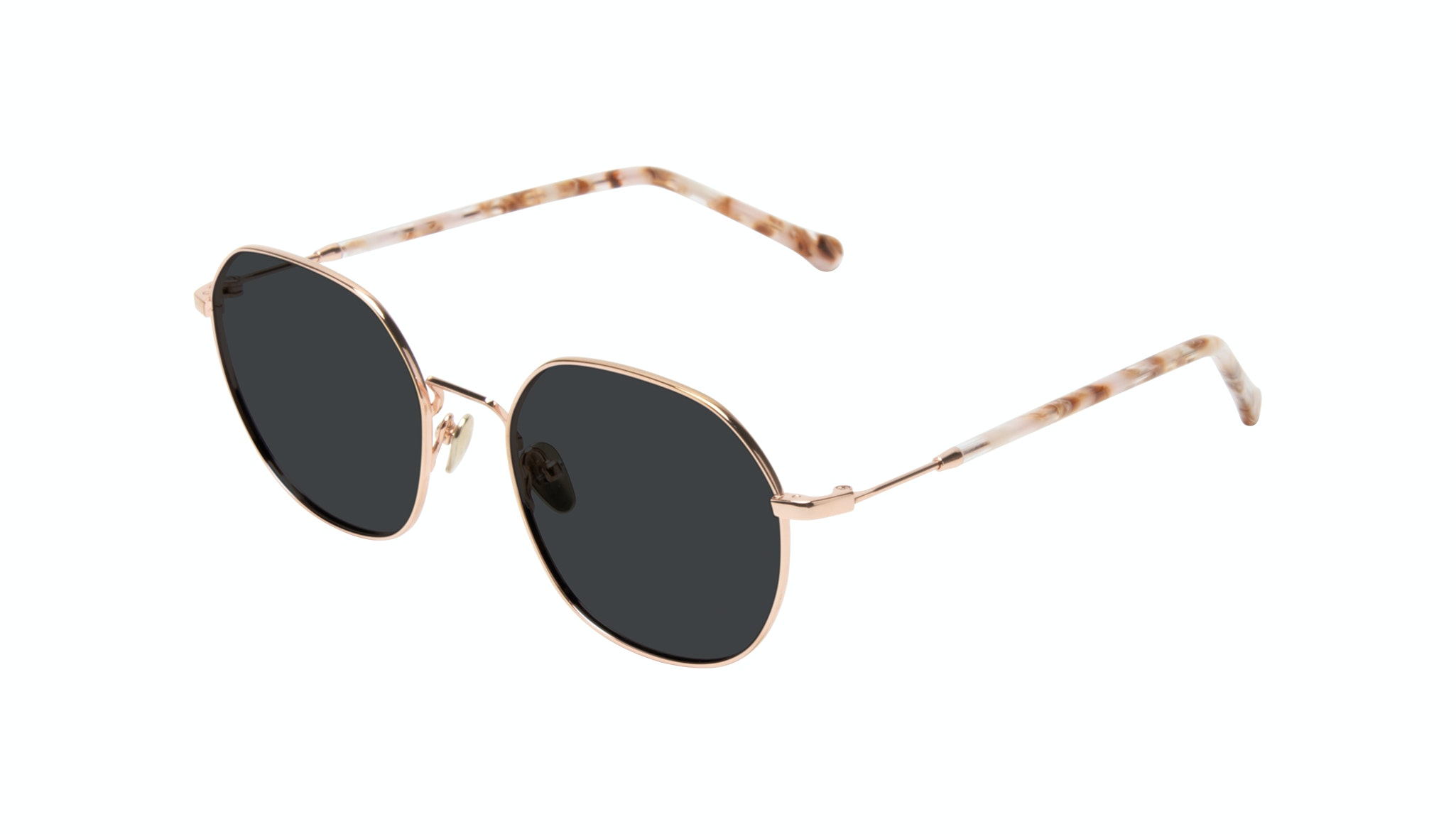 Affordable Fashion Glasses Round Sunglasses Women Coco Rose Gold Tilt