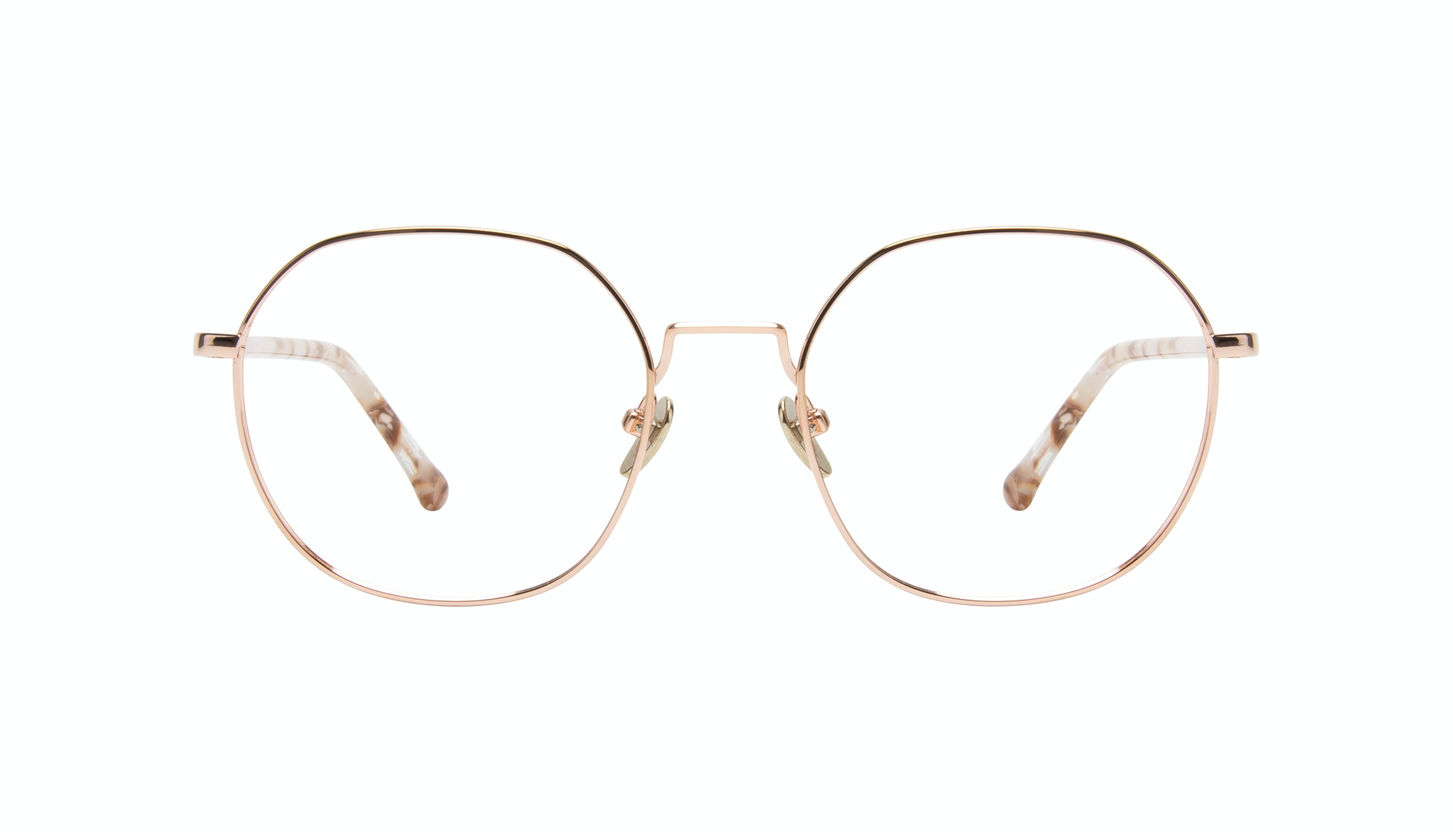 Affordable Fashion Glasses Round Eyeglasses Women Coco Rose Gold