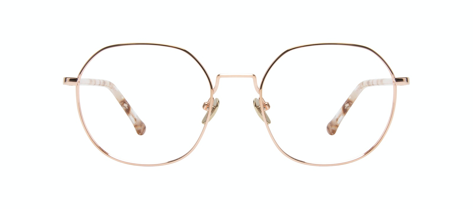 Affordable Fashion Glasses Round Eyeglasses Women Coco Rose Gold Front