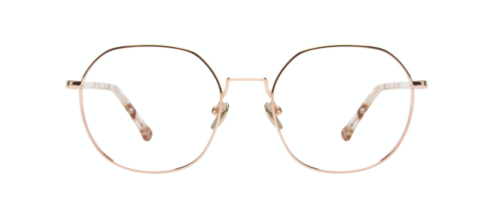 Affordable Fashion Glasses Round Eyeglasses Women Coco L Rose Gold Front