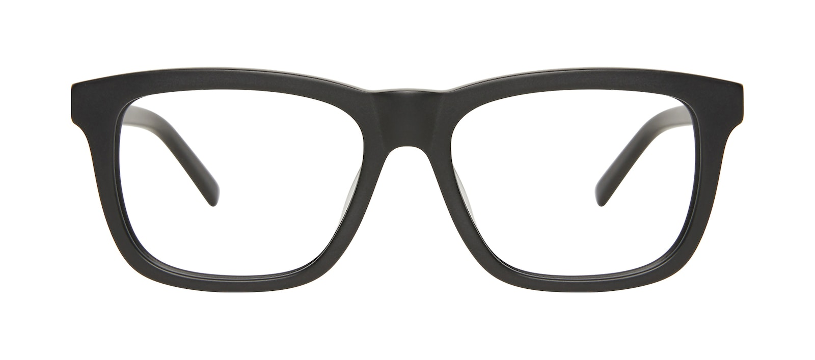 Affordable Fashion Glasses Square Eyeglasses Men Code Matte Black Front