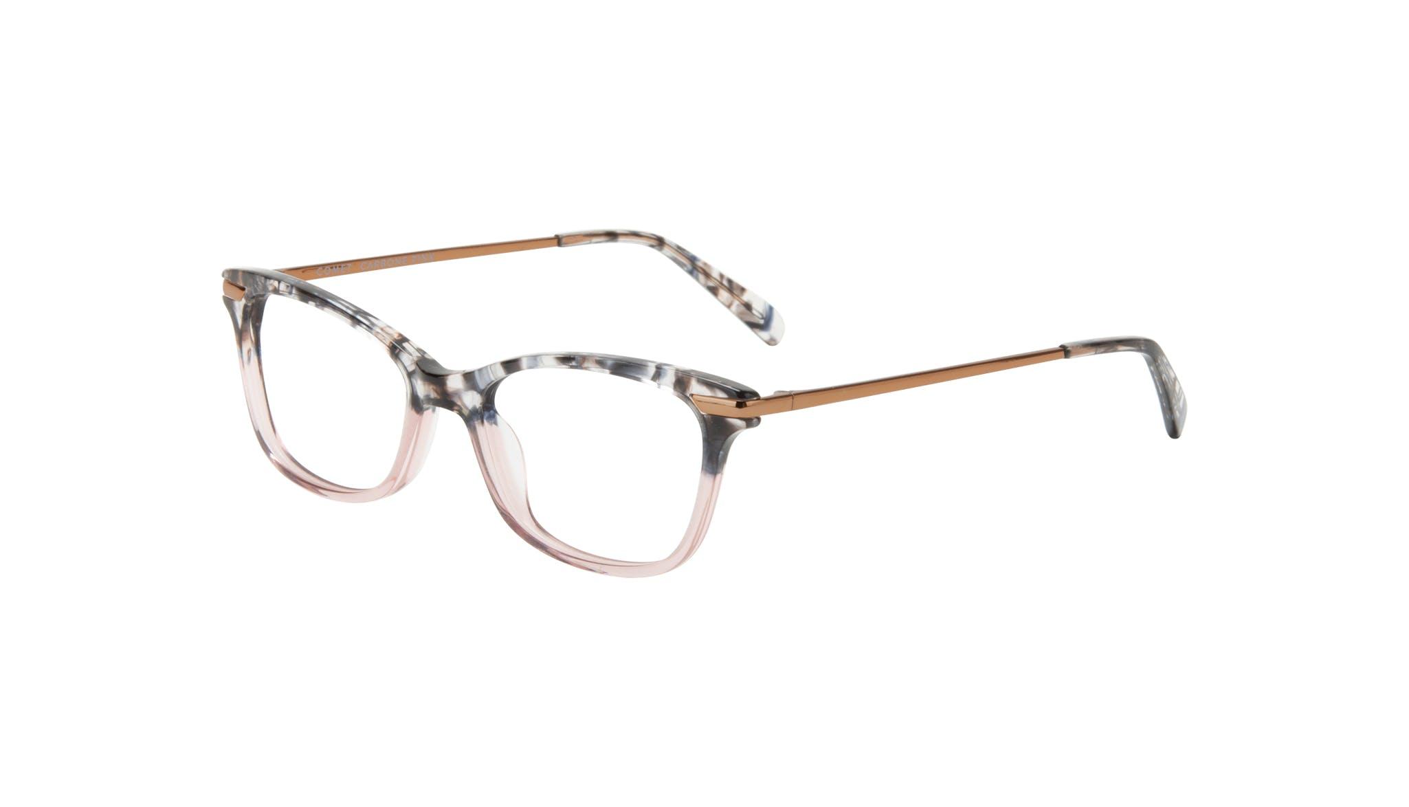 Affordable Fashion Glasses Rectangle Eyeglasses Women Comet II Carbone Pink Tilt