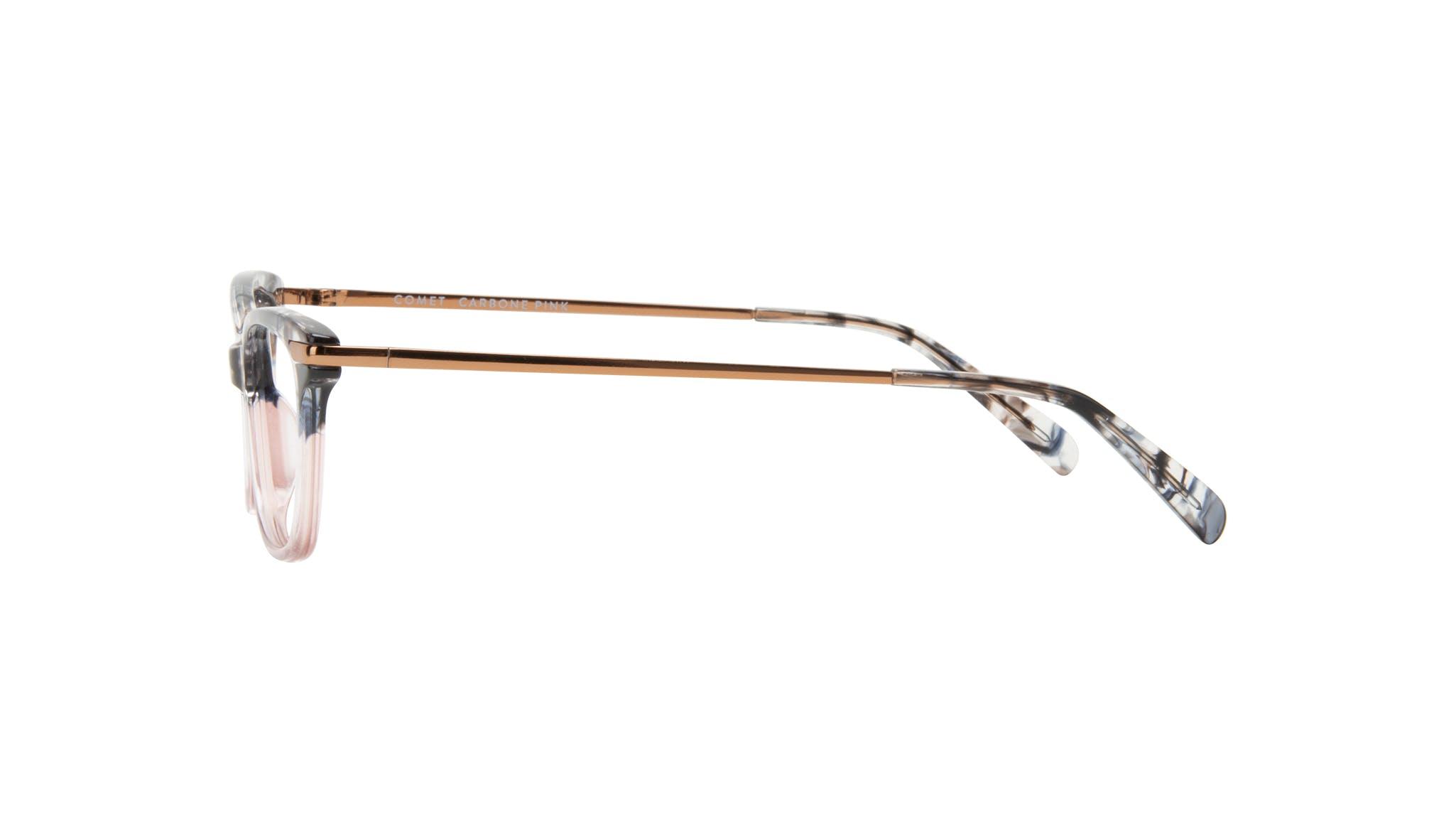 Affordable Fashion Glasses Rectangle Eyeglasses Women Comet II Carbone Pink Side