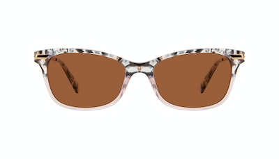 Affordable Fashion Glasses Rectangle Sunglasses Women Comet II Carbone Pink Front