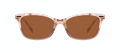 Affordable Fashion Glasses Rectangle Sunglasses Women Comet II Frosted Sand Front