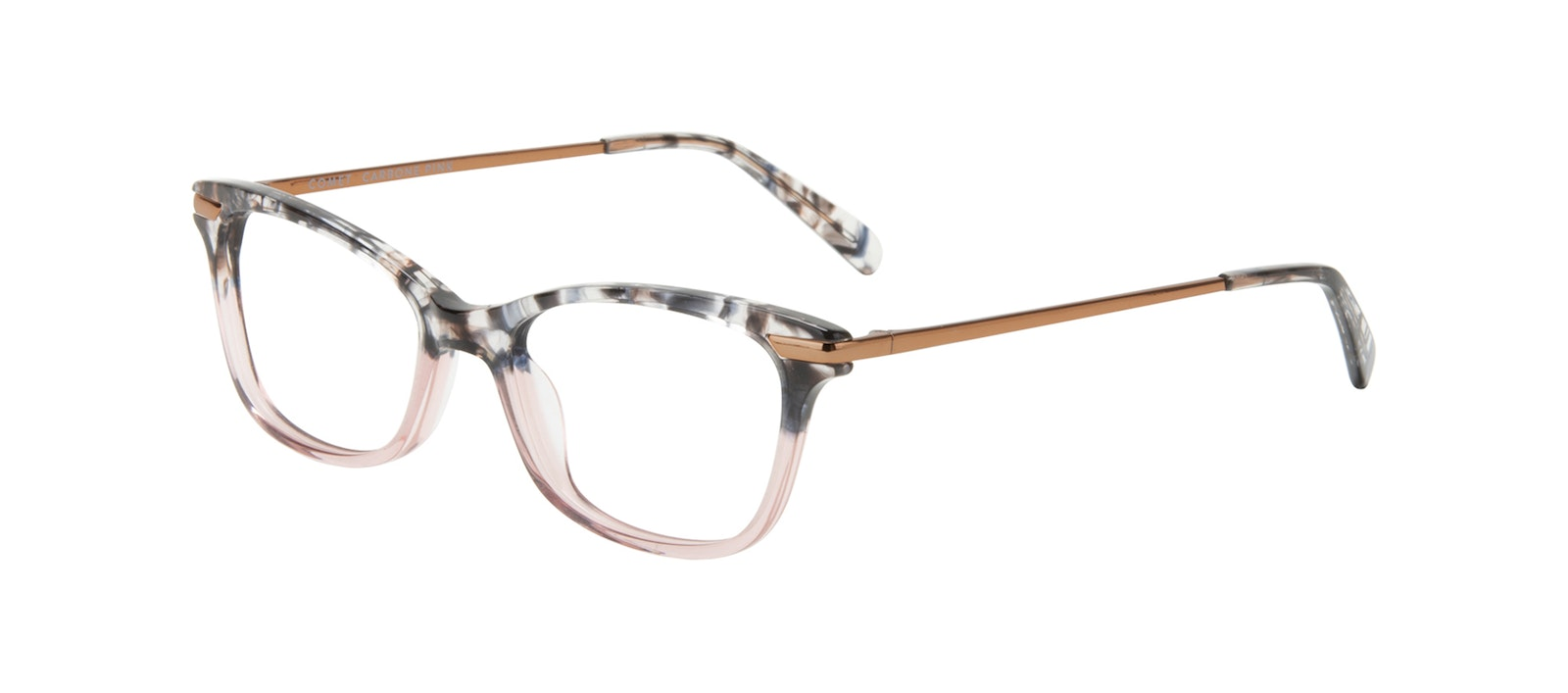 Affordable Fashion Glasses Rectangle Eyeglasses Women Comet II Carbone Pink Tilt