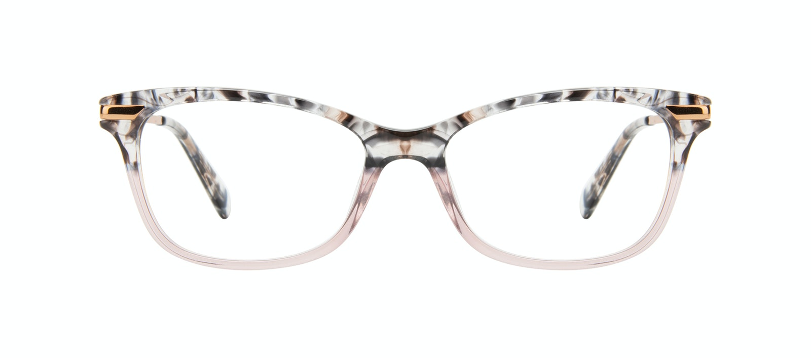 Affordable Fashion Glasses Rectangle Eyeglasses Women Comet II Carbone Pink Front