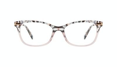 Affordable Fashion Glasses Rectangle Eyeglasses Women Comet II Carbone Pink Front