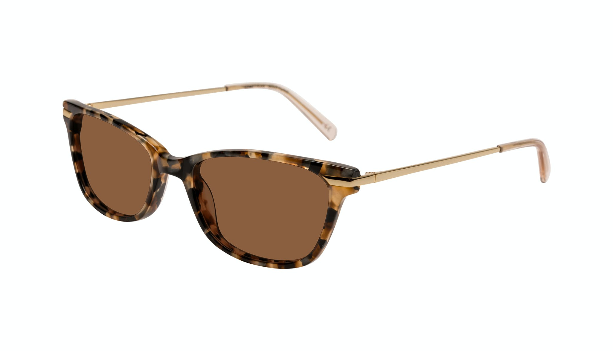 Affordable Fashion Glasses Rectangle Sunglasses Women Comet Plus Gold Flake Tilt