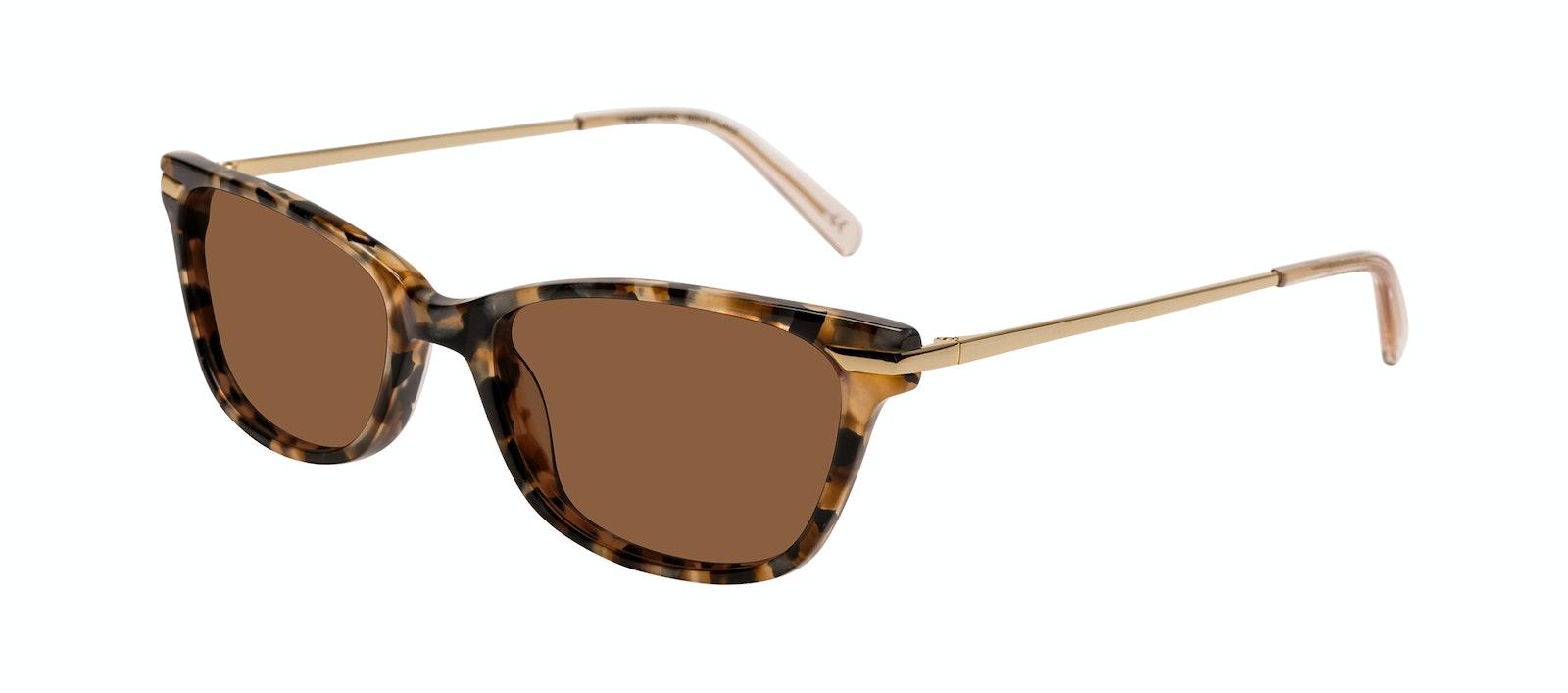 Affordable Fashion Glasses Rectangle Sunglasses Women Comet Plus Gold Flake Tilt
