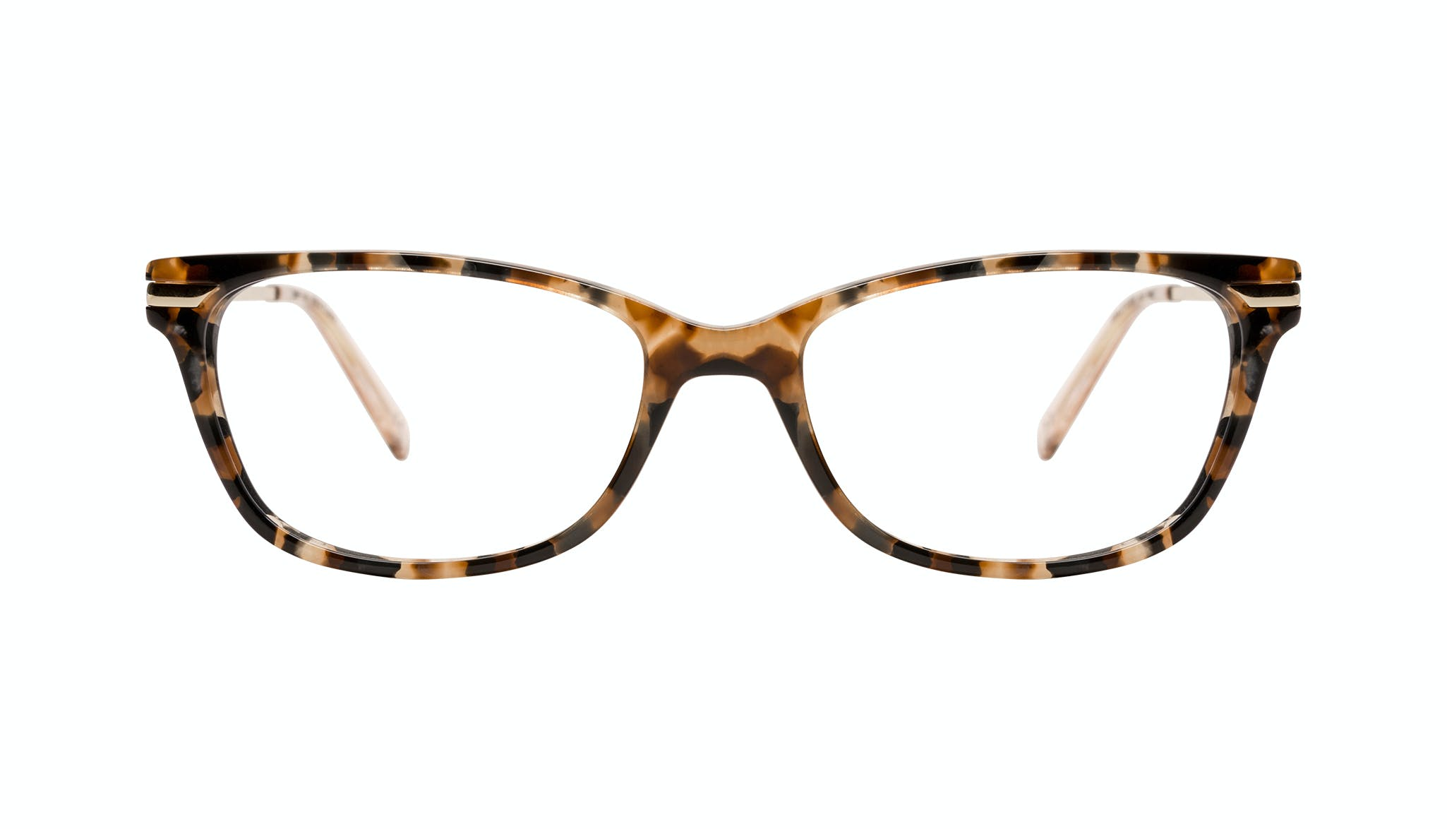 Affordable Fashion Glasses Rectangle Eyeglasses Women Comet Plus Gold Flake Front