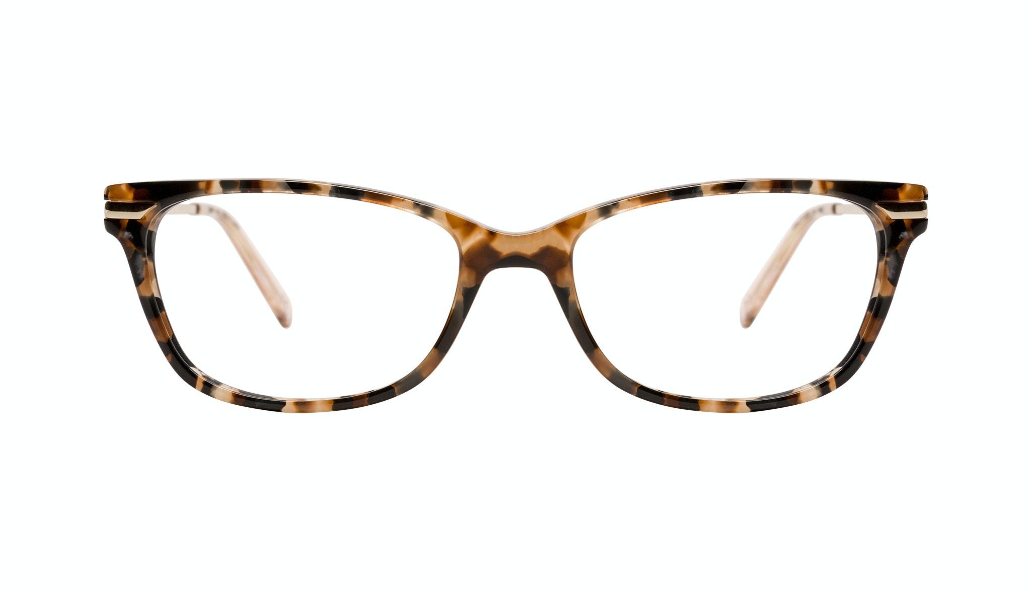 Affordable Fashion Glasses Rectangle Eyeglasses Women Comet Plus Gold Flake Front