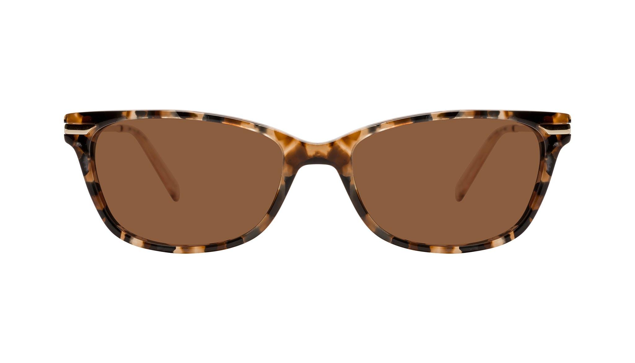 Affordable Fashion Glasses Rectangle Sunglasses Women Comet Plus Gold Flake Front