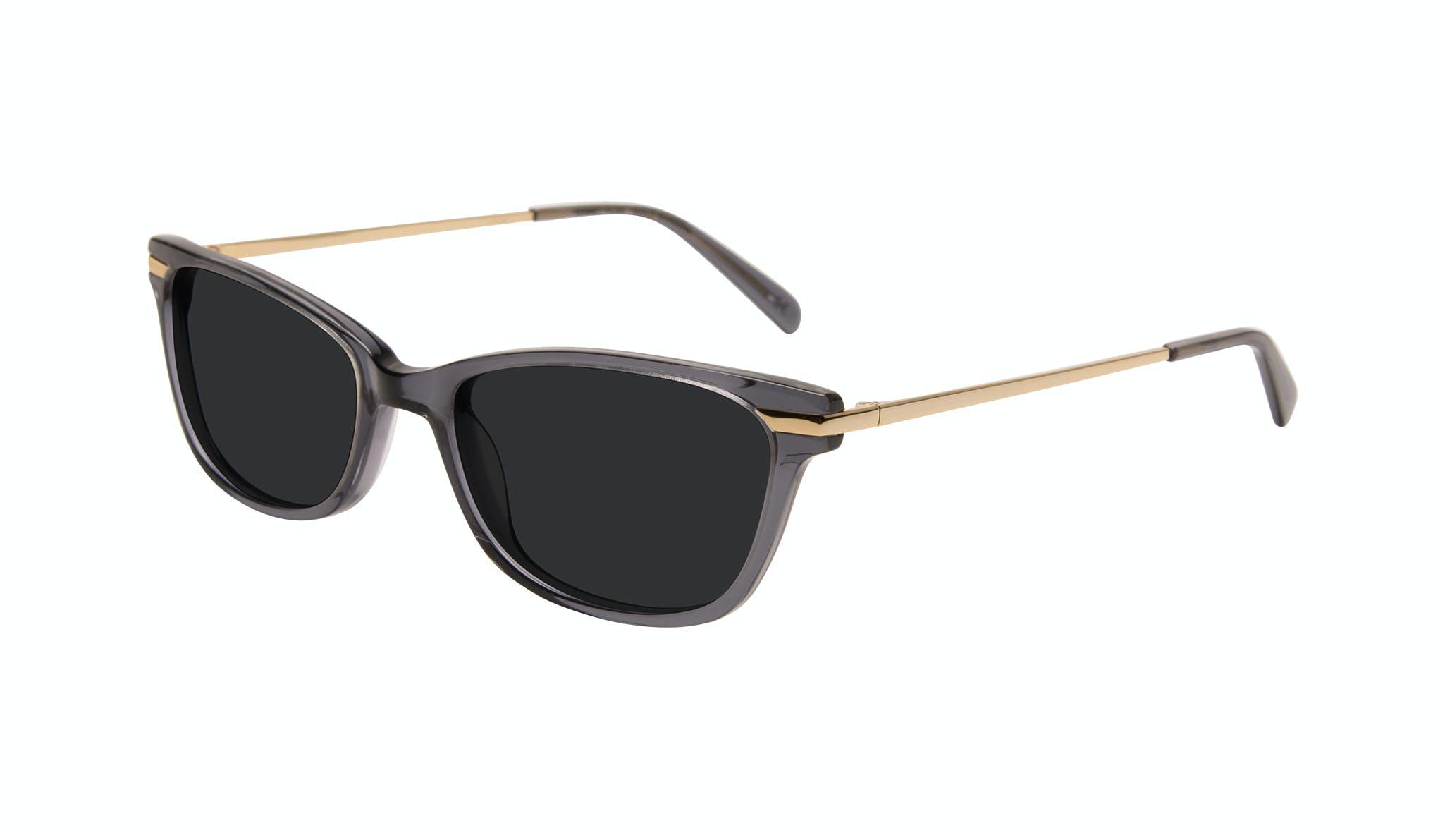 Affordable Fashion Glasses Rectangle Sunglasses Women Comet Plus Gold Shadow Tilt