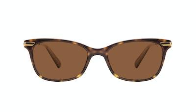 Affordable Fashion Glasses Rectangle Sunglasses Women Comet II Hazel Stardust Front