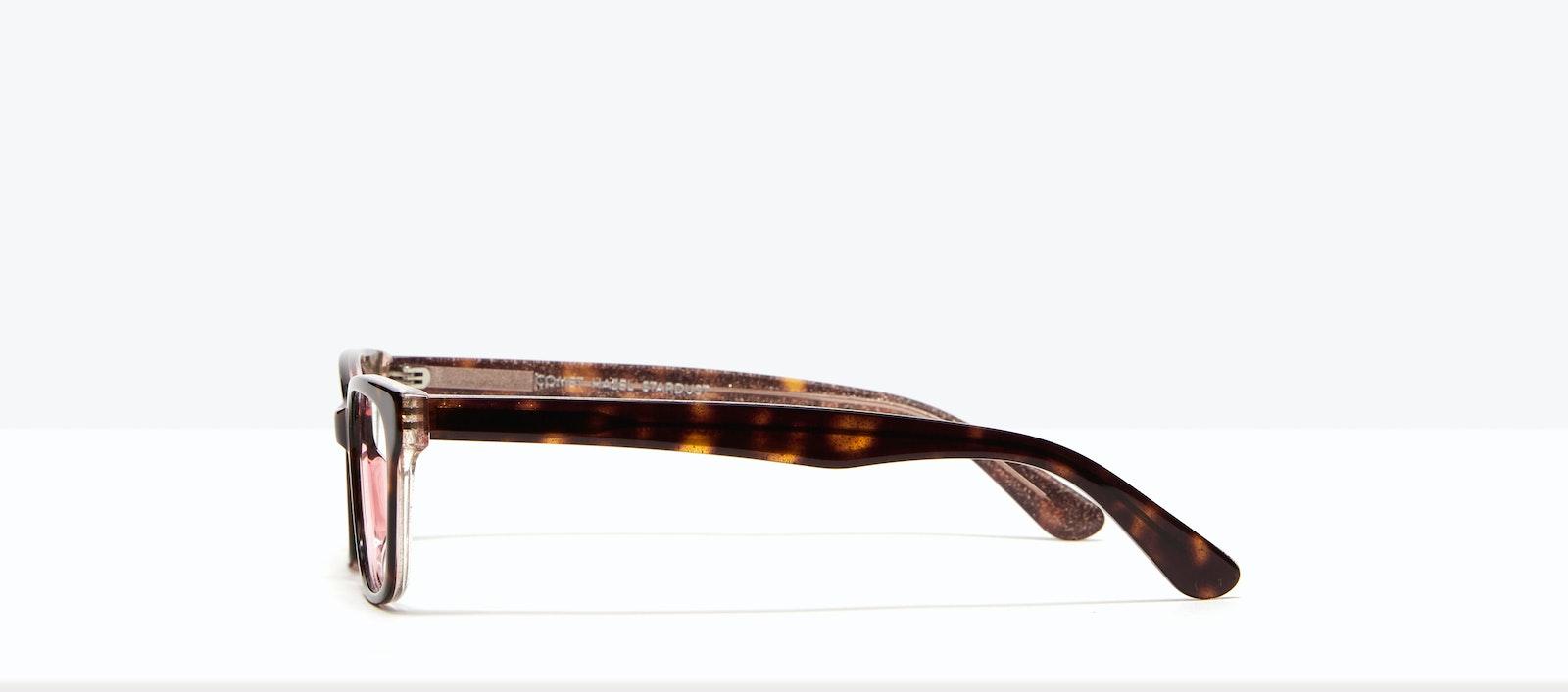 Affordable Fashion Glasses Rectangle Eyeglasses Women Comet II Hazel Stardust Side