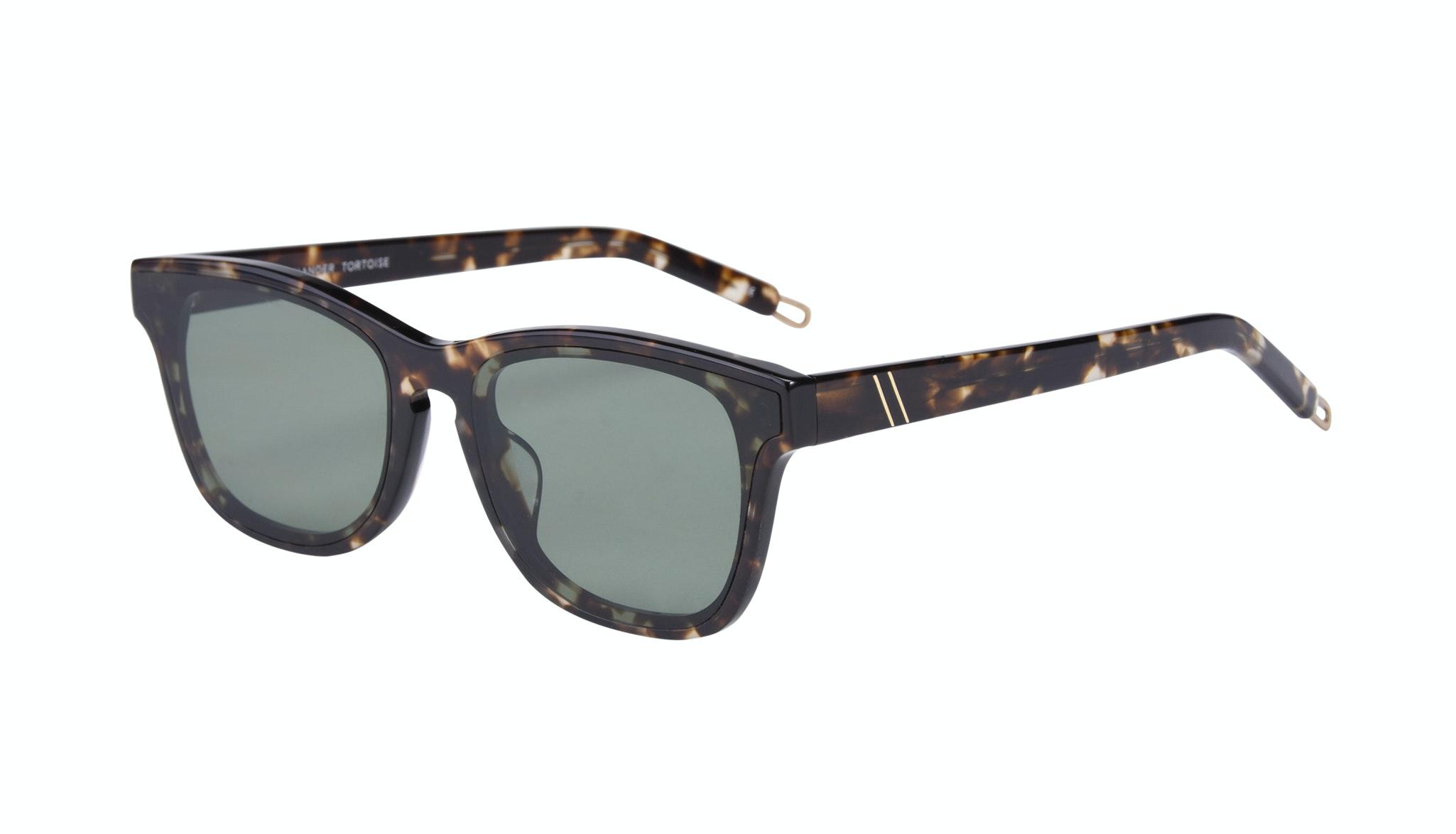 Affordable Fashion Glasses Square Sunglasses Men Commander Tortoise Tilt