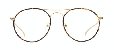 Affordable Fashion Glasses Aviator Round Eyeglasses Men Contour Tortoise Front