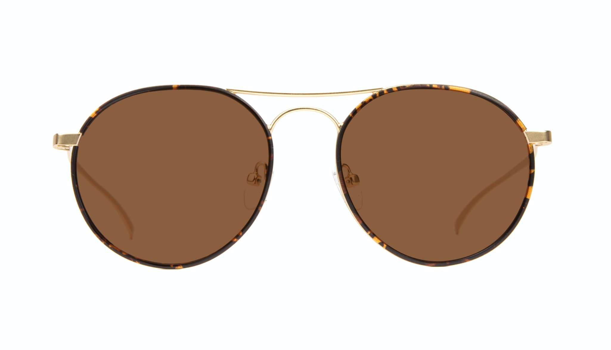 Affordable Fashion Glasses Aviator Round Sunglasses Men Contour Tortoise Front