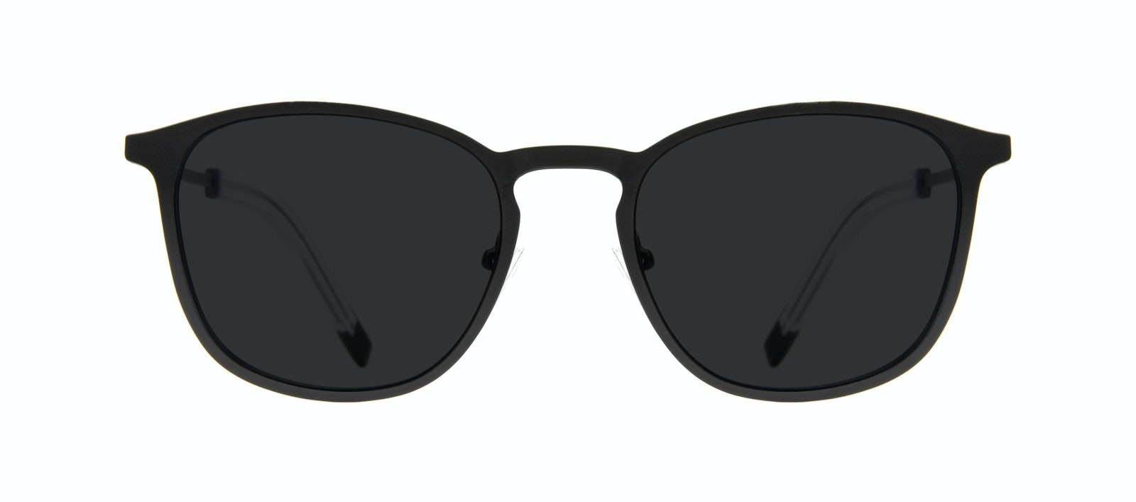 Affordable Fashion Glasses Rectangle Square Sunglasses Men Core Matte Black Front