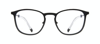 Affordable Fashion Glasses Rectangle Square Eyeglasses Men Core Matte Black Front