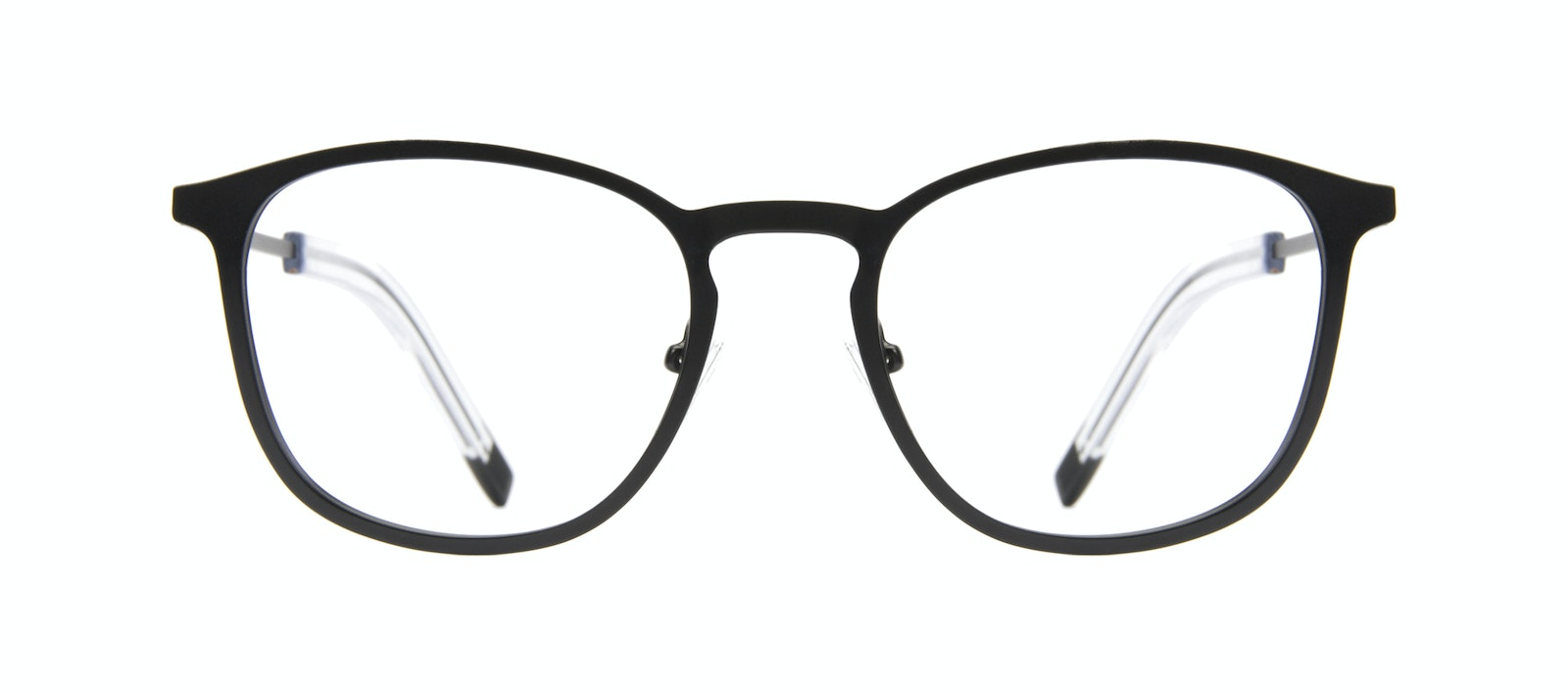 Affordable Fashion Glasses Rectangle Square Eyeglasses Men Core Matte Black Front