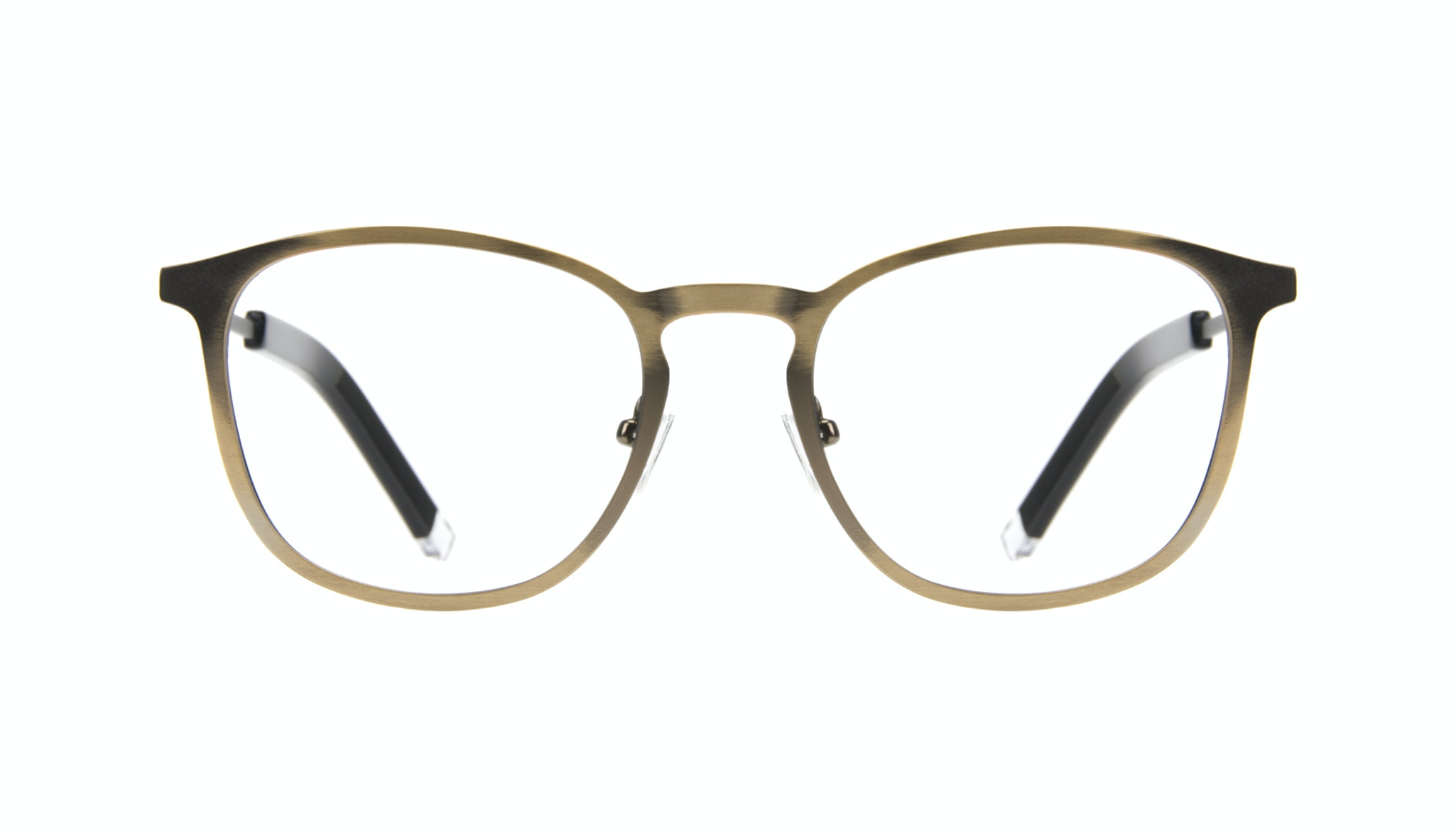 Affordable Fashion Glasses Rectangle Square Eyeglasses Men Core Matte Brass