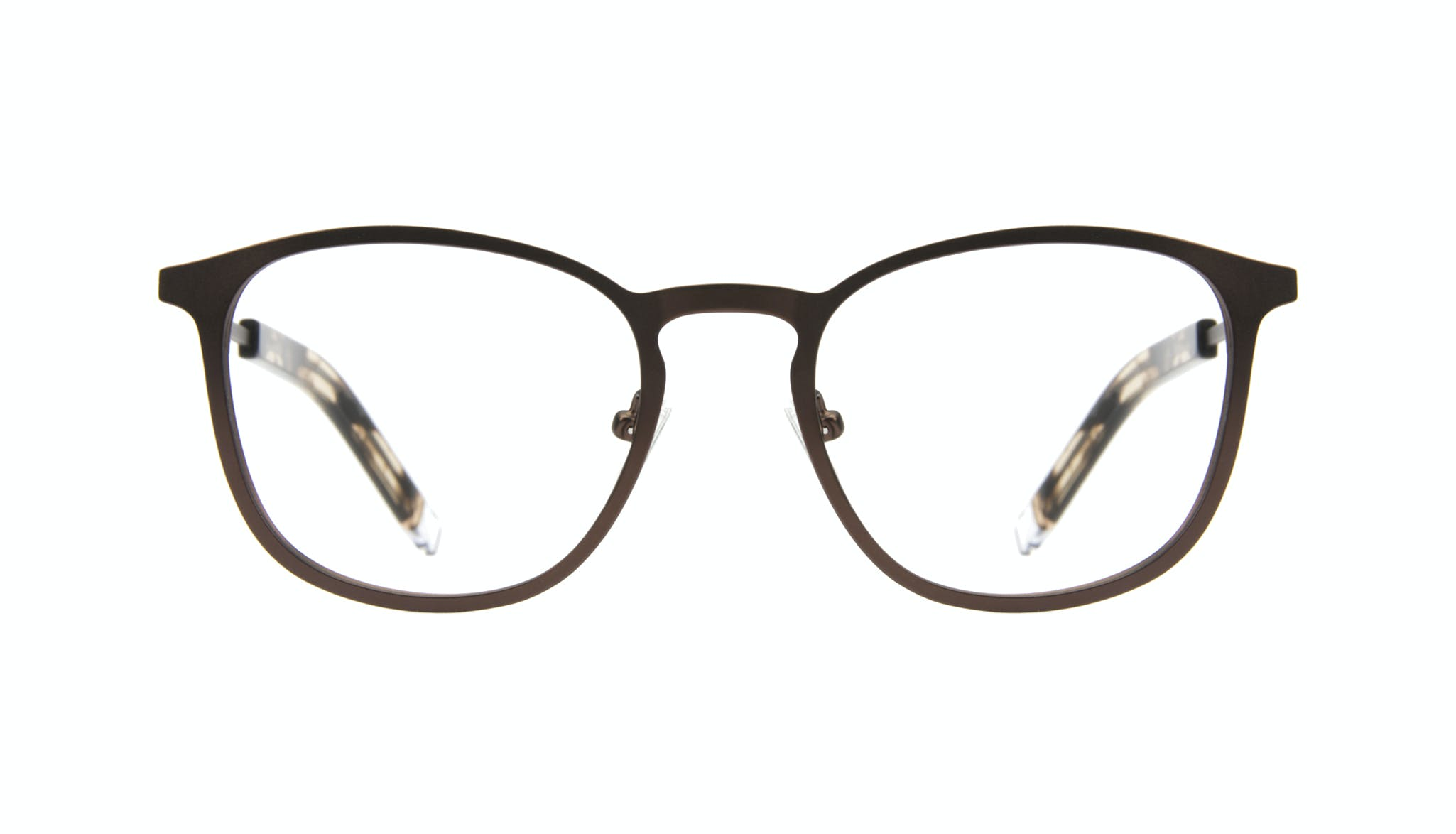 Affordable Fashion Glasses Rectangle Square Eyeglasses Men Core Mud Front