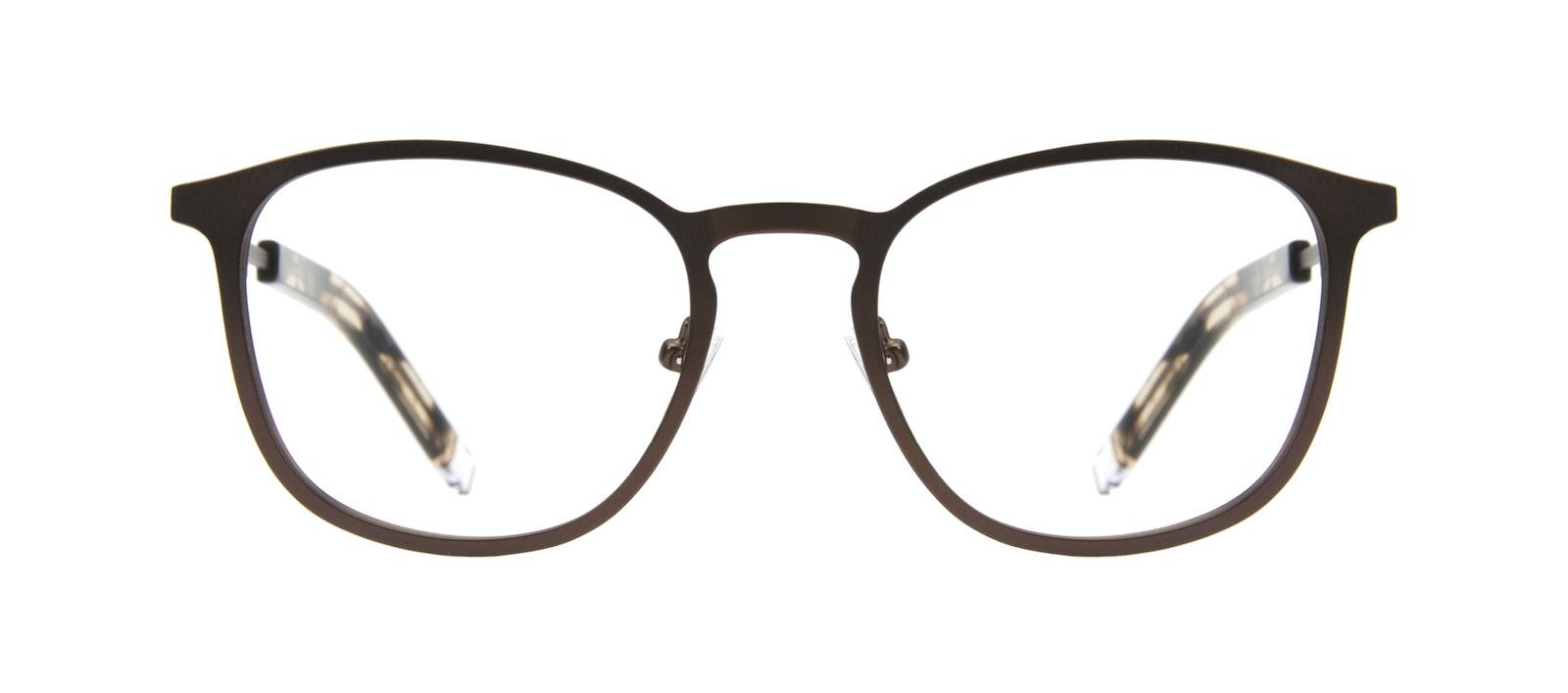 Affordable Fashion Glasses Rectangle Square Eyeglasses Men Core Mud Front