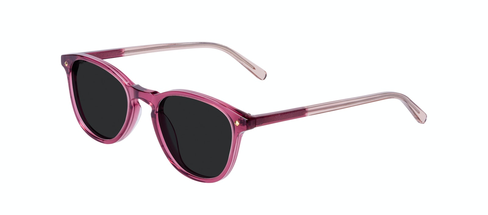 Affordable Fashion Glasses Round Sunglasses Women Crush Berry Tilt
