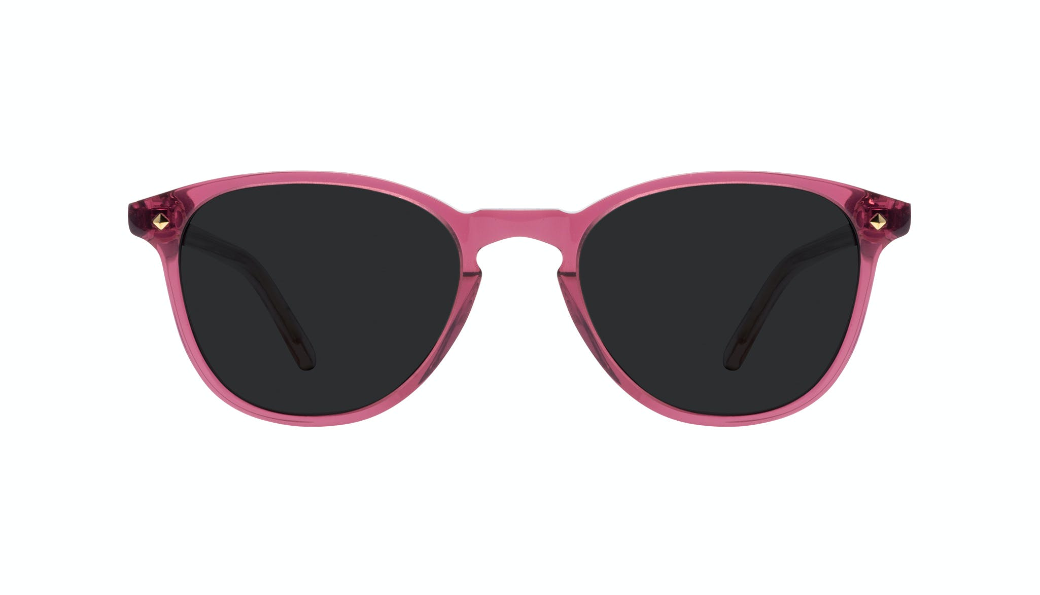 Affordable Fashion Glasses Round Sunglasses Women Crush Berry Front