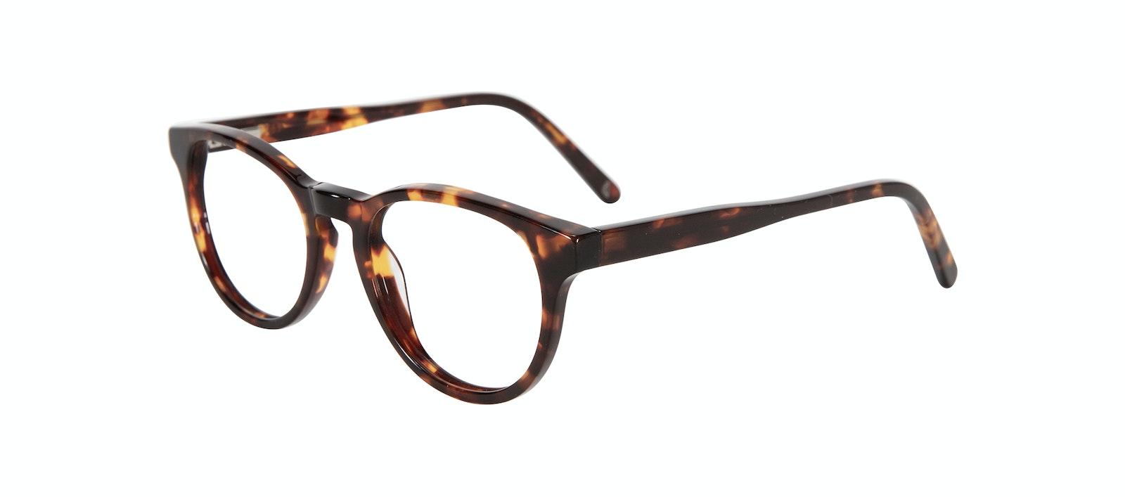 Affordable Fashion Glasses Round Eyeglasses Kids Cult Junior Sepia Kiss Tilt
