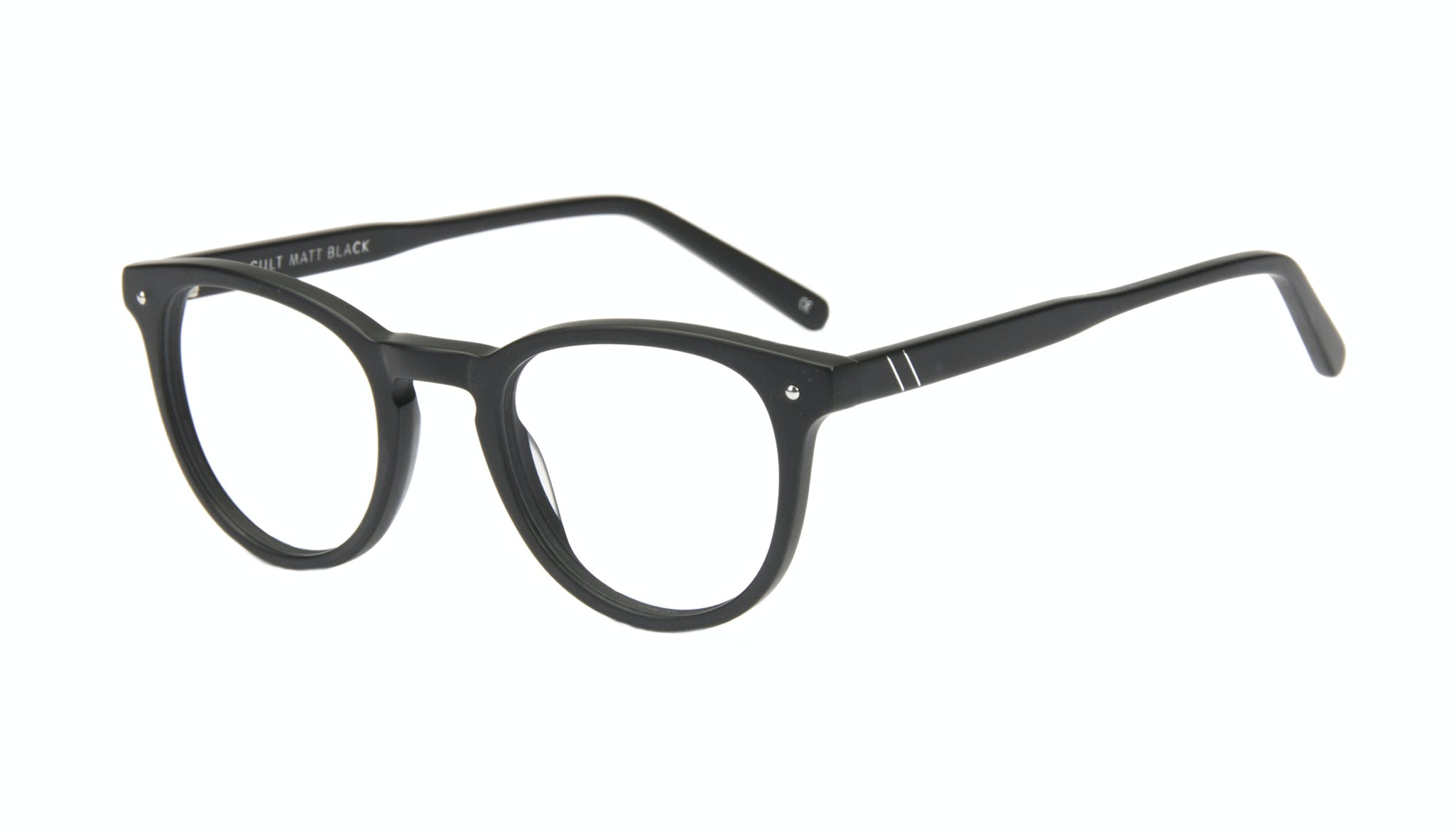 Affordable Fashion Glasses Round Eyeglasses Men Cult Matte Black Tilt