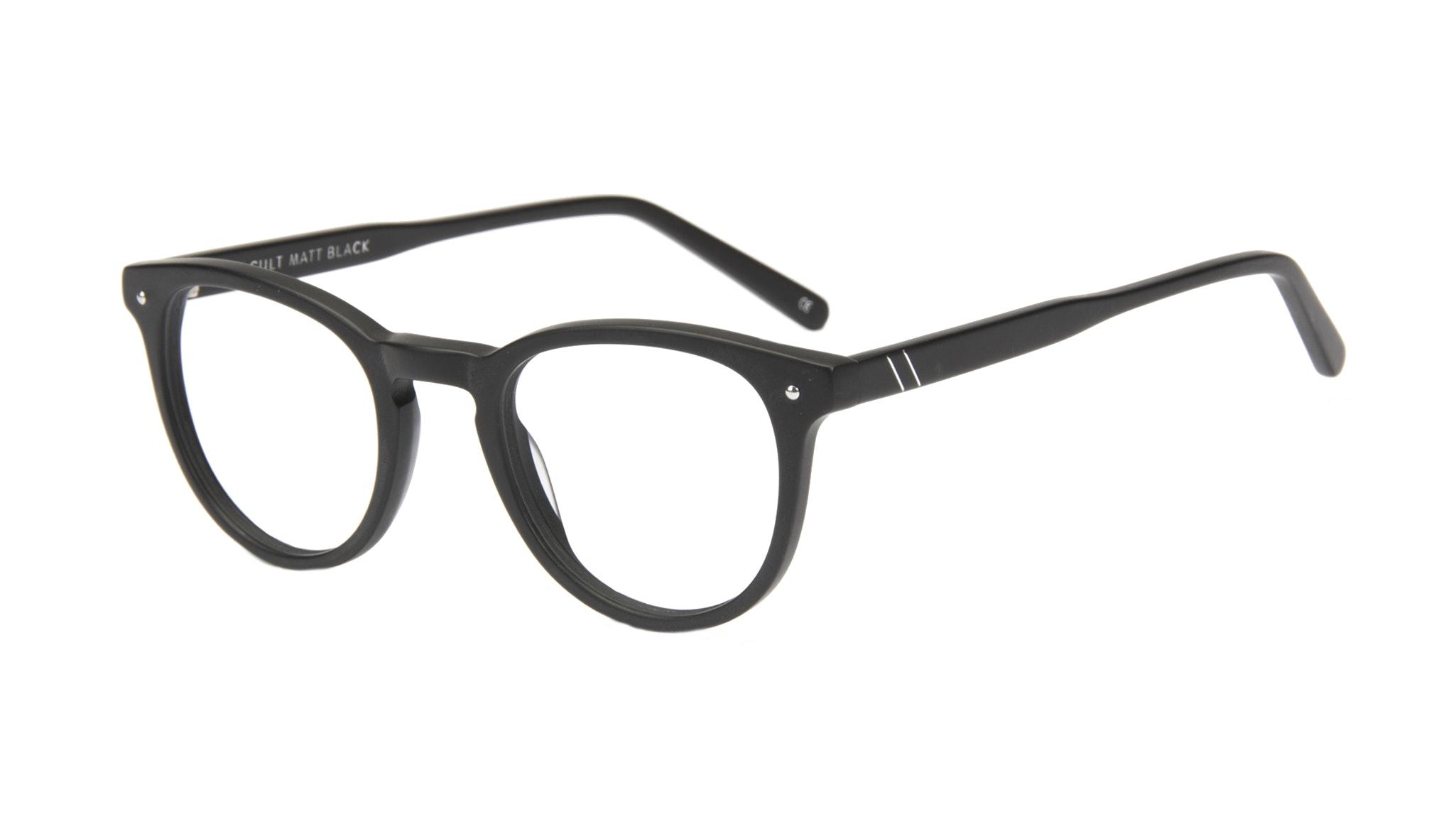 Affordable Fashion Glasses Round Eyeglasses Men Cult Matt Black Tilt