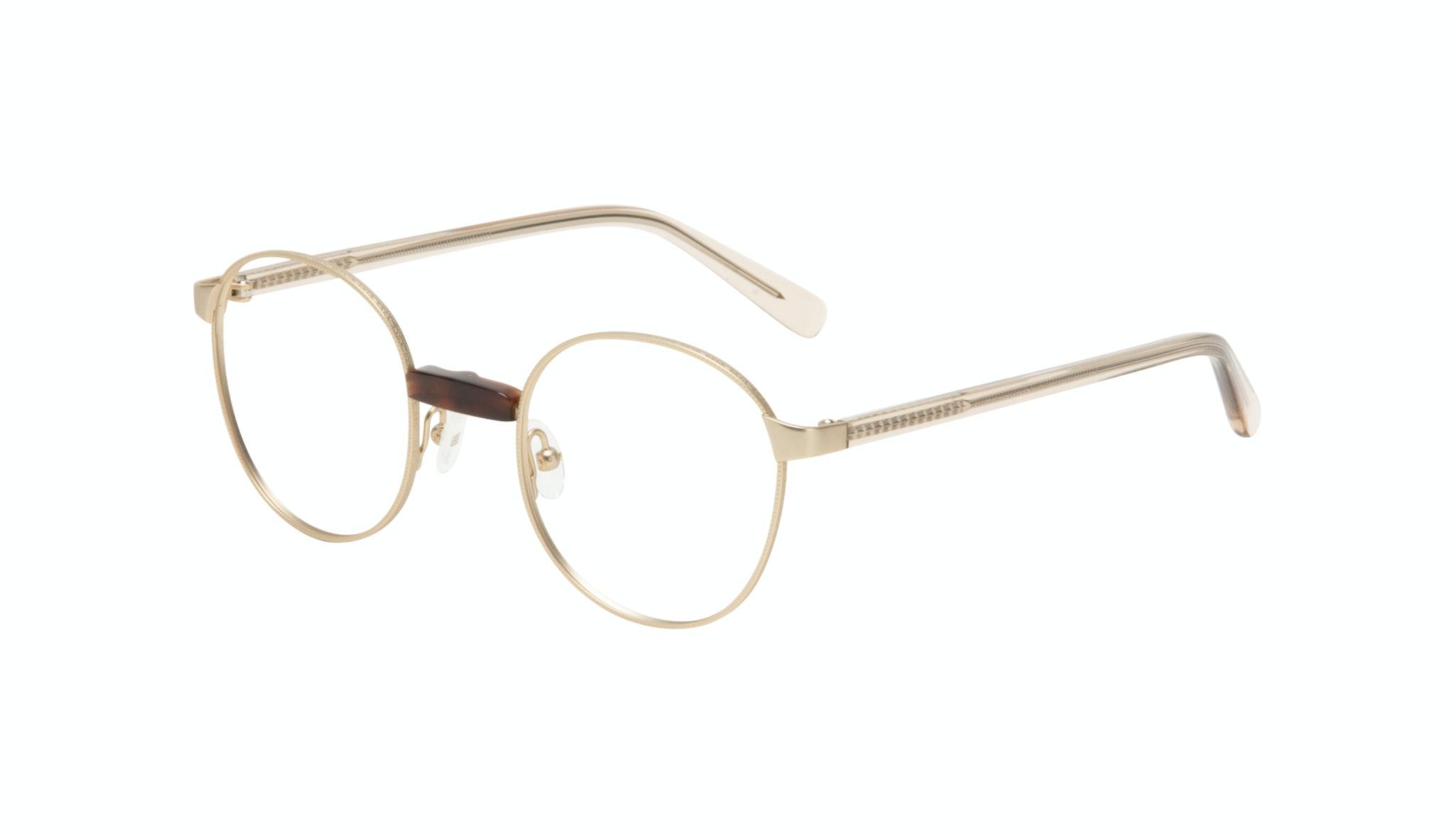 Affordable Fashion Glasses Round Eyeglasses Women Curious Gold Tilt