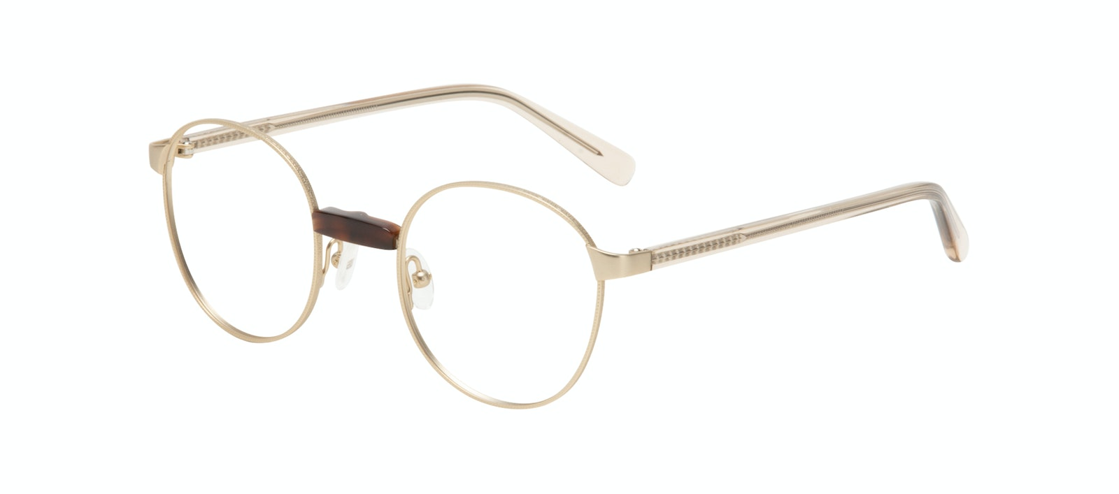 Affordable Fashion Glasses Round Eyeglasses Women Curious Gold Tilt