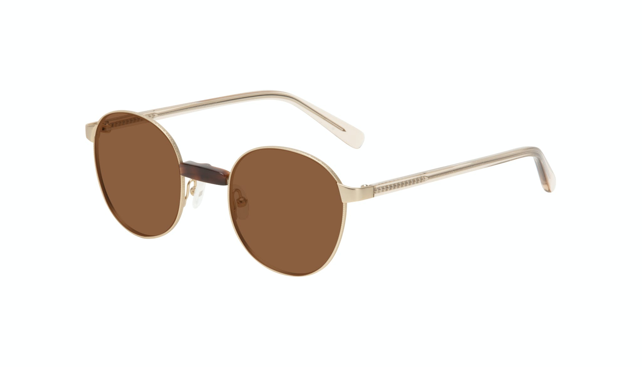 Affordable Fashion Glasses Round Sunglasses Women Curious Gold Tilt