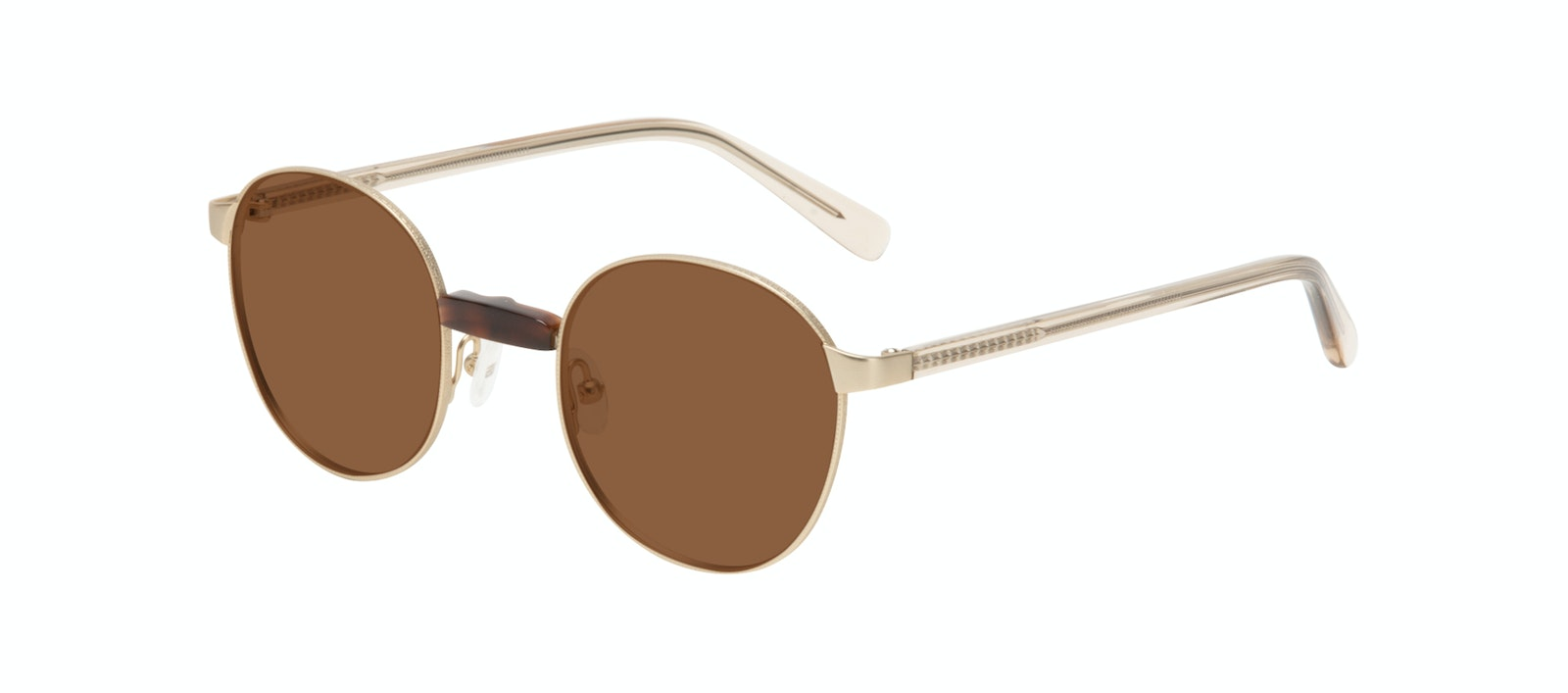 Affordable Fashion Glasses Round Sunglasses Women Curious Gold Tilt