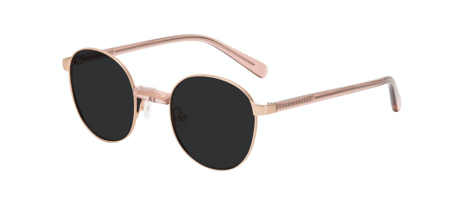 Affordable Fashion Glasses Round Sunglasses Women Curious Rose Tilt