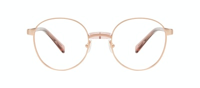 Affordable Fashion Glasses Round Eyeglasses Women Curious Rose Front